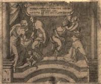 allegorisches albumblatt by johann mathias kager