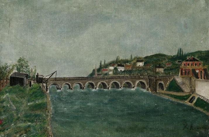 vue de pont de sèvres et de saint cloud by henri rousseau