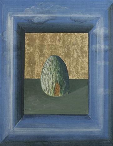 hut viewed from a window by johanna kandl