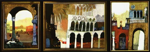 venedig (triptych) by rosina wachtmeister