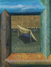 tent viewed from a window by johanna kandl