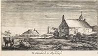 de nieuwekerck tot muydersbergh, pl. 3 (from dreizehn landschaften mit orten aus der umgebung von amsterdam) by geertruyd roghman