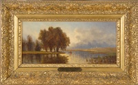 view of the upper hudson by john william casilear