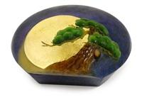 moon and pinetree by shinichi higuchi