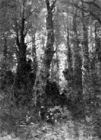 wäscherinnen am bach im wald von barbizon by hippolyte alizone