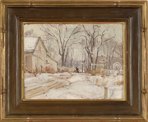 winter scene by george gardner symons