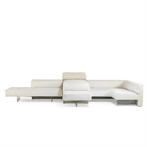 Sectional Omnibus sofa in 3 parts by Vladimir Kagan on artnet