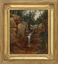 waterfall by john william casilear