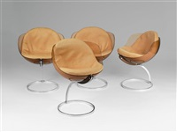 suite de quatre chaises by boris tabakoff