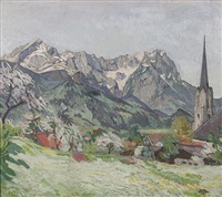 frühling in partenkirchen by carl reiser