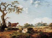 landschaft mit hirten by fredericus theodorus renard