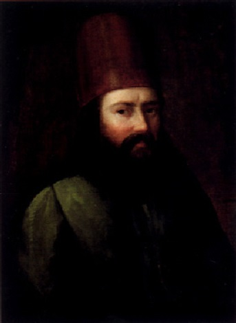 porträtt av turkisk man by carl peter lehman