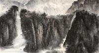 江流天际 (landscape) by lin yongsong