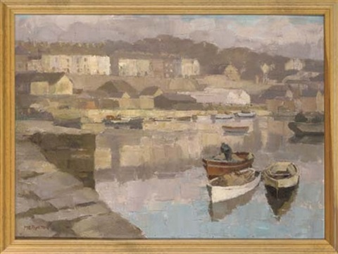 a peaceful day in the harbour caernarvon by millicent ayrton