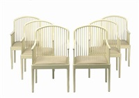 andover armchairs (set of 6) by davis allen