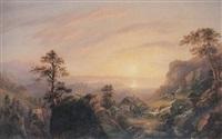 prachtvolle abendlandschaft am bodensee by karl lintzbauer