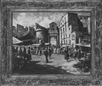 roman market scene by carlo ciappa