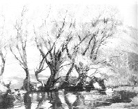 willows in the spring by bertha menzler peyton