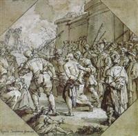 der gang des heiliges andreas zur richtstätte by lazzaro tavarone