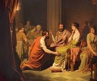 odysseus i kong alkinoos palads by august malmström