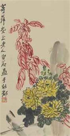 chrysanthemums and insects by qi baishi