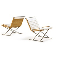 sled chairs (pair) by ward bennett