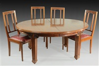 dinner set (7 works) by louis majorelle
