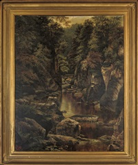fairy glen at bettws-y-coed by henry livings