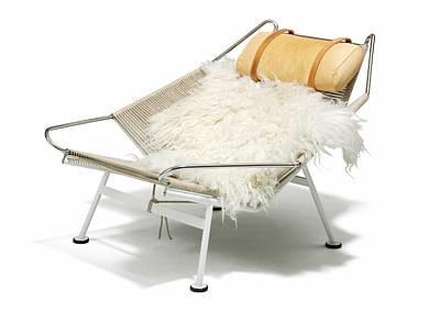 Flag Halyard Lounge Chair (model Ge 225) By Hans J. Wegner