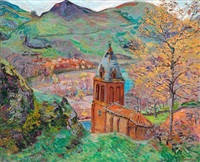 the church in st. julien des chazes by armand guillaumin
