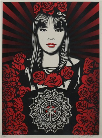 rose girl by shepard fairey