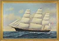 portrait of sovereign of the seas by solon francis montecello badger