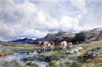 banks of the wharf & the brook, capel curig (pair) by david bates