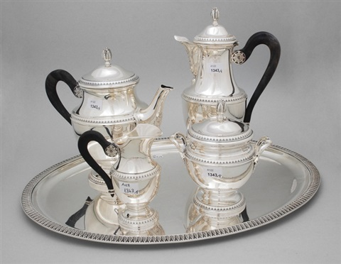 kaffee teeservice set of 5 by louis charles simon leterne