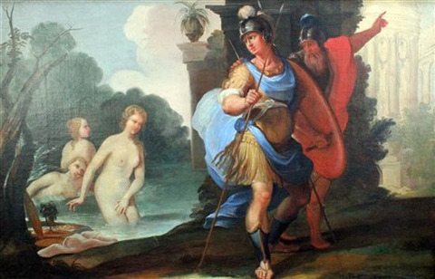 telemachus and mentor with calypso circe by friedrich heinrich füger