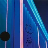lichtweg blau (+ lichtweg grün; 2 works) by keith sonnier