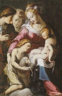 madonna mit christuskind und johannesknaben by michelangelo anselmi
