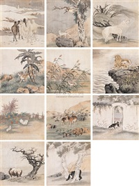 动物图册 (animals) (album w/12 works) by liu yongliang