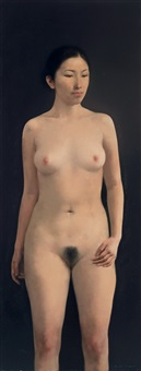 站立的裸女 (nude) by guo runwen