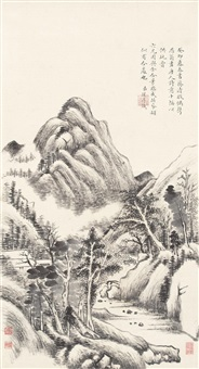 painting after ancient poems by yong rong and yong xing