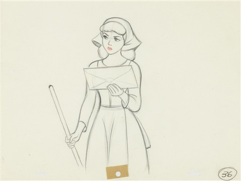 cinderella holding the invitation from the king from cinderella by disney studios