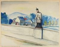 alte lahnbrücke in limburg mit standbild des brückenheiligen johannes von nepomuk by alois erbach