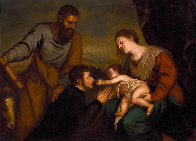 la virgen con el niño san lucas y un donante by titian tiziano vecelli