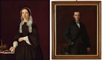 portrait d'homme et de femme (pair) by danish school (19)