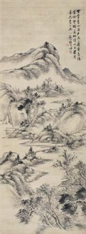 百叠青山图 by xu rong