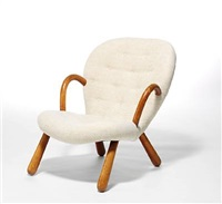 easy chair with round armrests by martin olsen