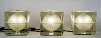 tre lampade da tavolo cubosfera (3 works) by alessandro mendini