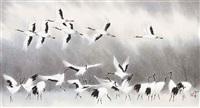 cranes by lin hukui