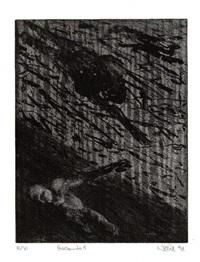 cascando (bk by samuel beckett w/9 works and title, folio) by rainer wölzl