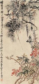 天竺松树 (一件) by zhao yunhe